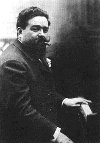 Isaac Albéniz at the piano (1901), the composer of Asturias.