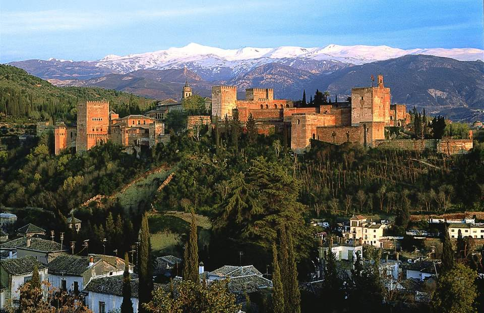 The Alhambra, Granada - the inspiration of Recuerdos de la Alhambra by Francisco Tárrega