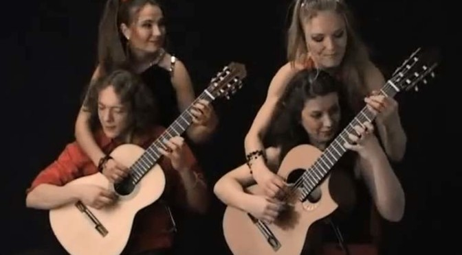 "Zequinha de Abreu's ""Tico Tico"" – with two guitars, eight hands"