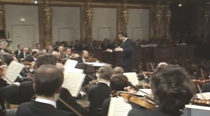 "Wiener Philharmoniker plays Schubert's ""Unfinished Symphony""."