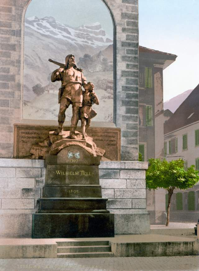 The Statue of William Tell and his son