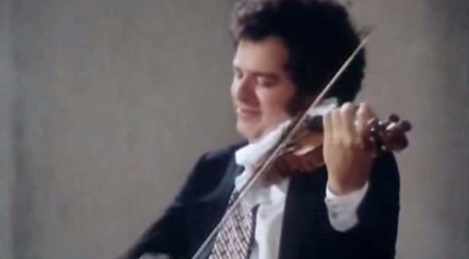 Itzhak Perlman plays Partita for Violin No. 2, BWV 1004  (Bach)