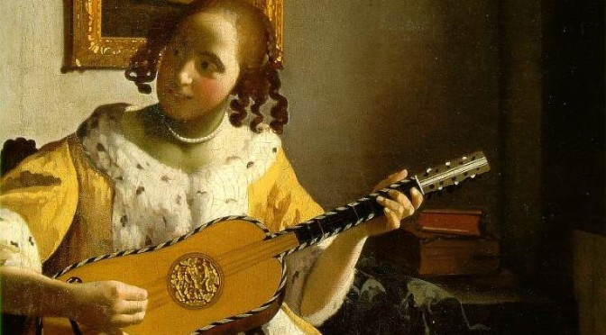 """Guitar Player"" by Johannes Vermeer"