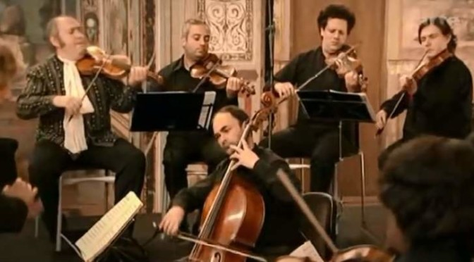 Il Giardino Armonico plays Vivaldi's Cello concerto in A minor, RV 419.