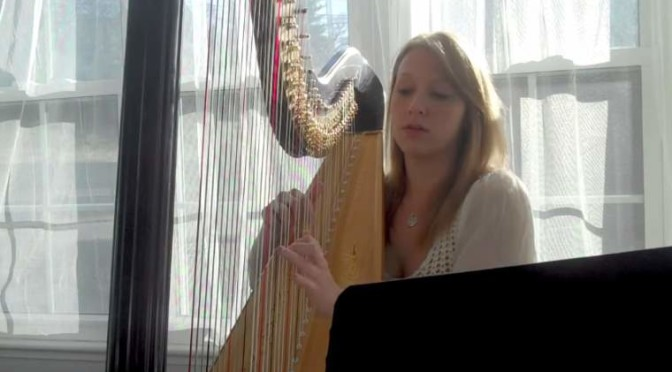 "Lauren Baker plays ""Pachelbel's Canon in D Major"" on Harp."
