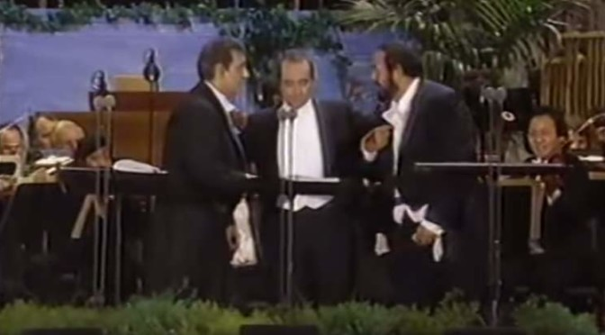 "The three tenors sing ""'O Sole Mio"""