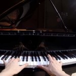 "Valentina Lisitsa plays the 3rd movement of ""The Tempest"" (Beethoven) and records it with a GoPro"
