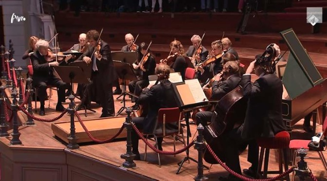 esko Eschkenazy and Concertgebouw Kamerorkest perform Johann Sebastian Bach's Violin Concerto in A minor