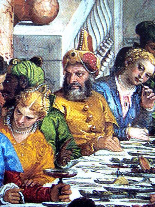 Paolo Veronese - The Wedding at Cana - Suleiman the magnificent