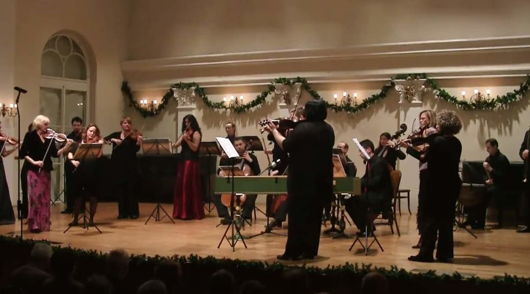 """The Croatian Baroque Ensemble and the British violinist Catherine Mackintosh perform """"Air"""" and """"Gavotte"""""""