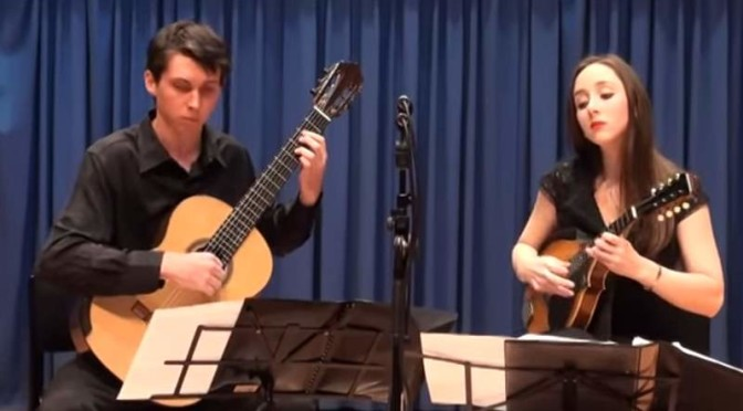 Marissa Carroll (mandolin) and Joel Woods (guitar) play Niccolò Paganini's Sonata Concertata
