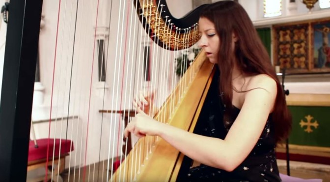 Amy Turk plays Toccata and Fugue in D Minor (Bach) on harp