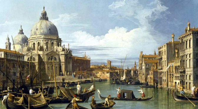 """The Grand Canal and the Church of the Salute"" (Canaletto)"