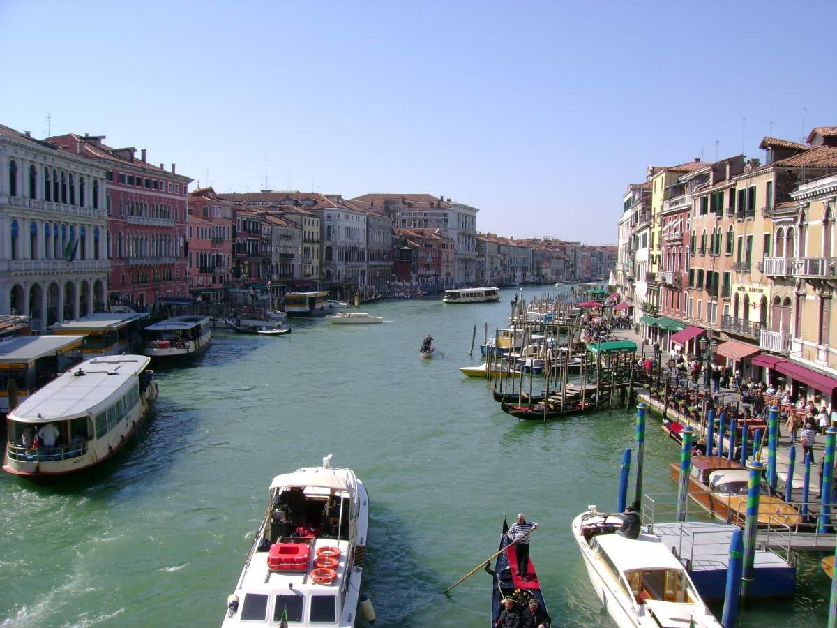 The Grand Canal of Venice from the Rialto Bridge