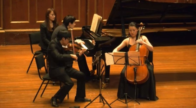 Trio Concorde performs Tchaikovsky's Piano Trio in A minor
