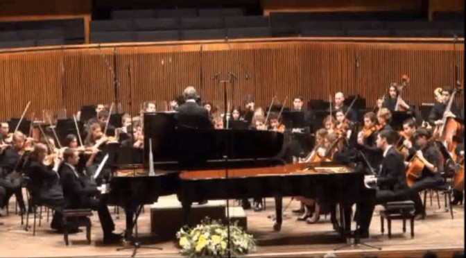 Poulenc – Concerto for Two Pianos and Orchestra (Mehta/Gewirtzman-Borovitzky)