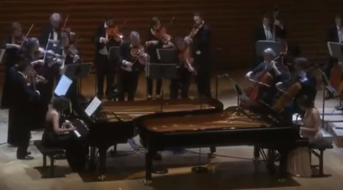 Khatia and Gvantsa Buniatishvili performs Bach - Concerto in C minor, BWV 1062