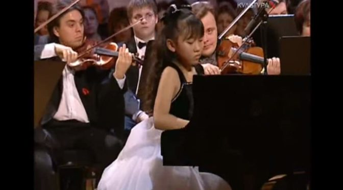 "11 Years Old Aimi Kobayashi performs Mozart – Piano Concerto No. 26 ""Coronation"" at the Svetlanov Hall, Moscow"