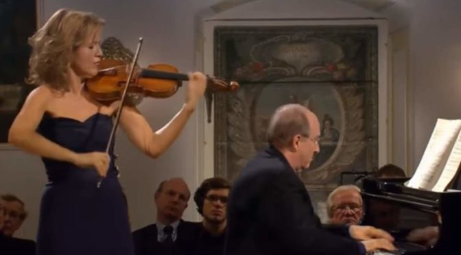 Mutter and Orkis perform Brahms - Violin Sonata No. 2