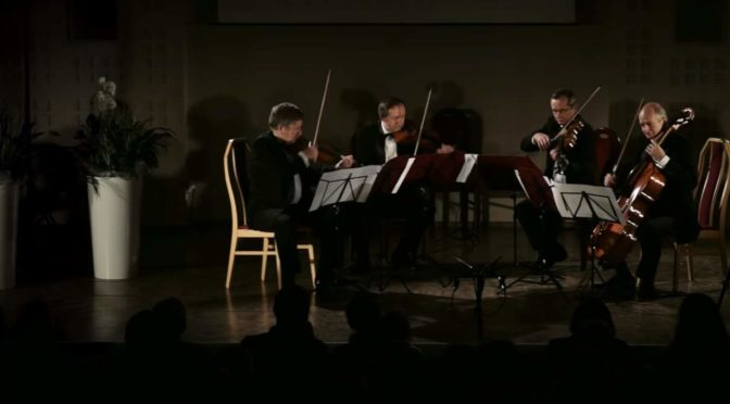 Camerata Quartet plays String Quartet, no. 3, op. 155 by Gerard Drozd