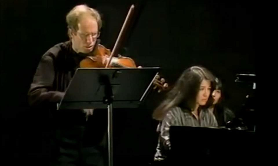 Kremer and Argerich perform Beethoven - Kreutzer Sonata