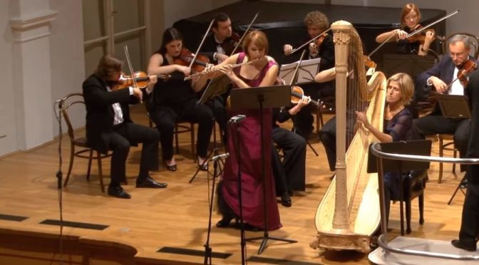 Croatian Chamber Orchestra performs Wolfgang Amadeus Mozart's Concerto for Flute, Harp, and Orchestra