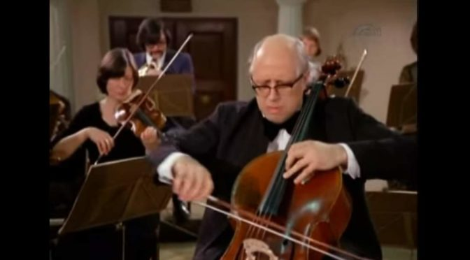 Rostropovich plays Haydn Cello Concerto No. 1