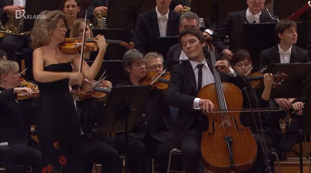 Anne-Sophie Mutter and Maximilian Hornung perform Brahms' DoubleConcerto