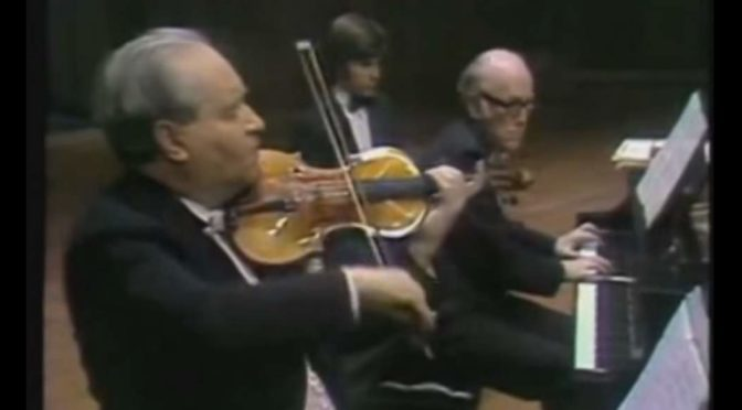 Oistrakh and Richter perform Brahms' Violin Sonata No. 3
