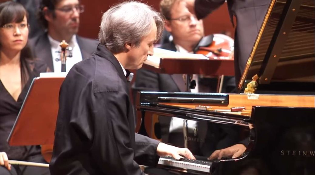 "Jean-Efflam Bavouzet performs Maurice Ravel's ""Piano Concerto for the Left Hand in D major"""