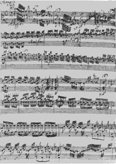 The oldest surviving manuscript of Toccata and Fugue in D minor, BWV 565