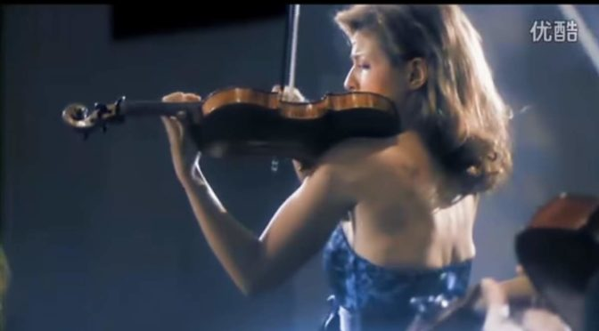 Anne-Sophie Mutter performs Wolfgang Amadeus Mozart's Violin Concerto No. 5