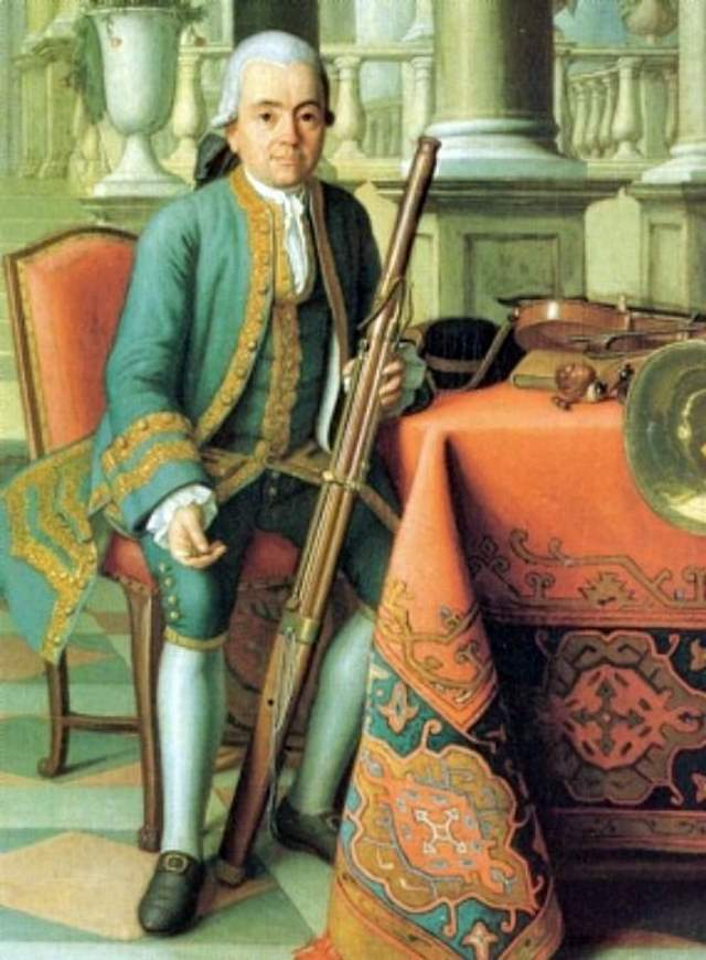 Munich bassoonist Felix Reiner by Peter Jacob Horemans (1774)