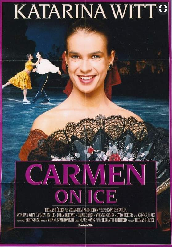 Katarina Witt in Carmen On Ice -movie poster