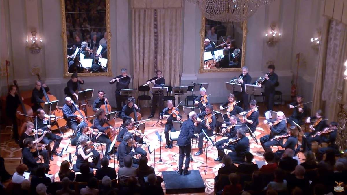 Conducted by Stefano Montanari, Orchestra del Teatro La Fenice performs Wolfgang Amadeus Mozart's Symphony No. 27 in G major, K. 199/161b