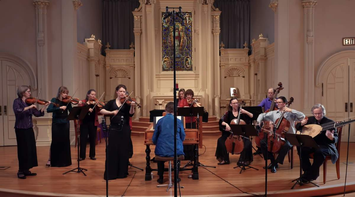 "Voices of Music and Cynthia Miller Freivogel perform Vivaldi's ""Summer"" (L'Estate, RV 315) from the Four Seasons."
